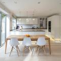 85+ идей кухонных столов: разнообразие форм, цветов, материалов фото