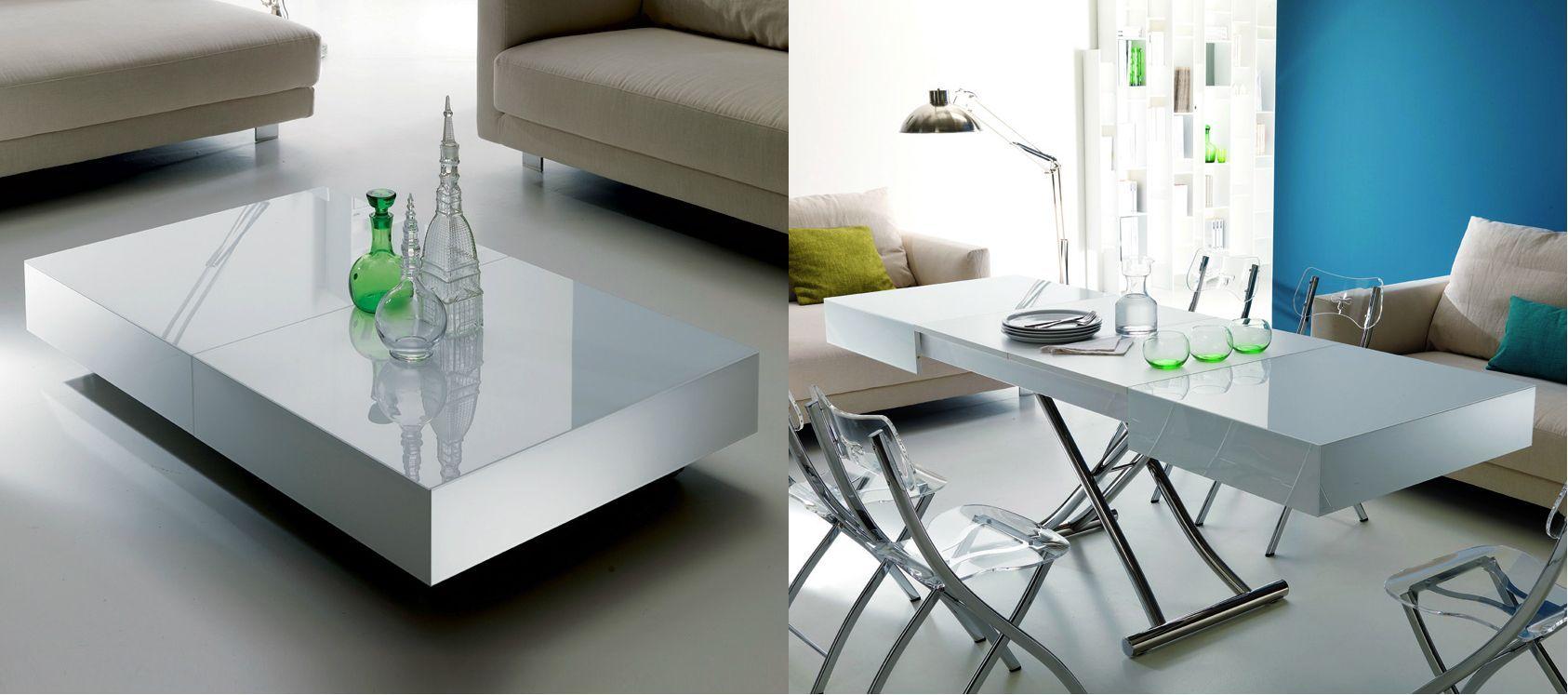 Пластиковый журнальный стол-трансформер - это красиво, компактно и практично