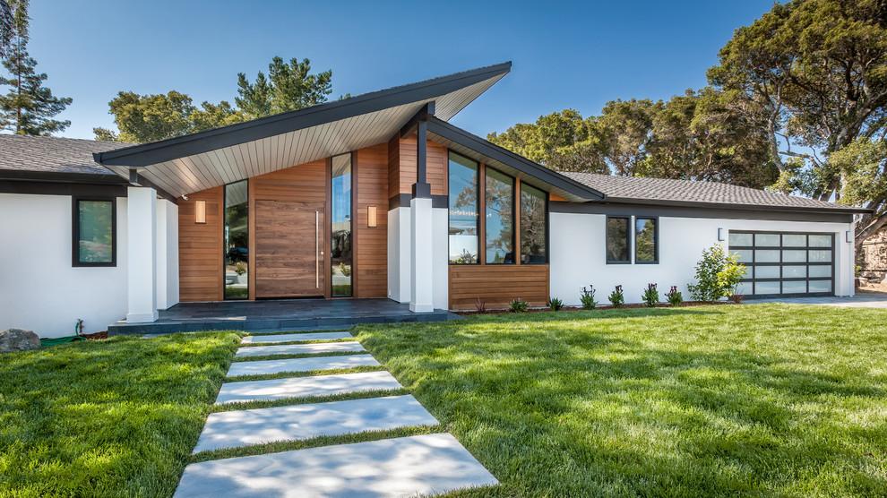 Уютный загородный одноэтажный дом в современном стиле