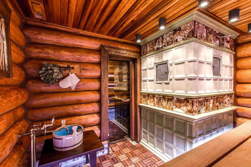 Печь для бани с декоративной отделкой