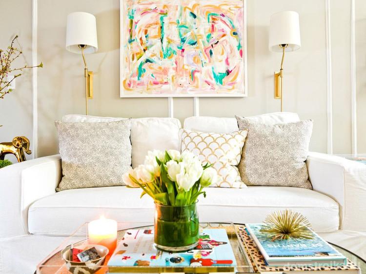 80 прекрасных идей  Дизайн интерьера белой гостиной