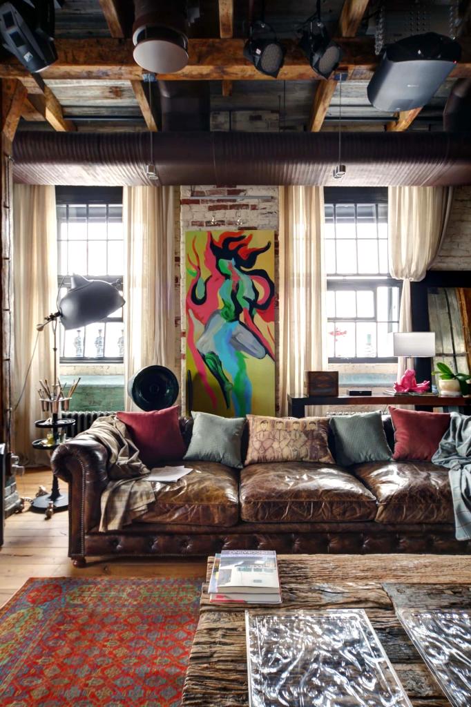 80 вариантов картин в стиле лофт ️ Лучшие фото интерьеров