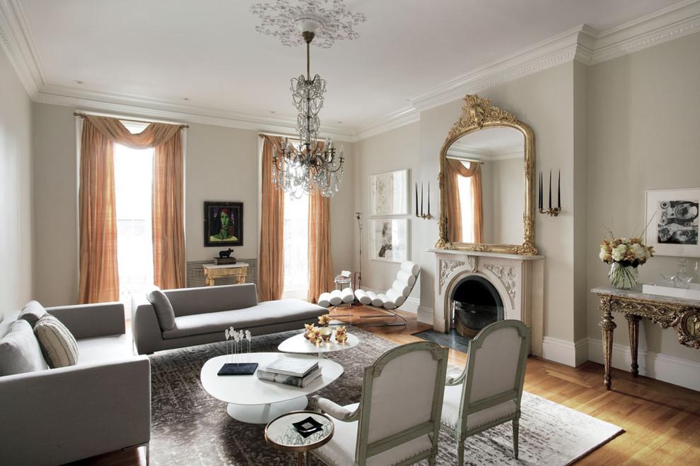 При оформлении помещения в стиле неоклассики необходимо продумать все до мелочей