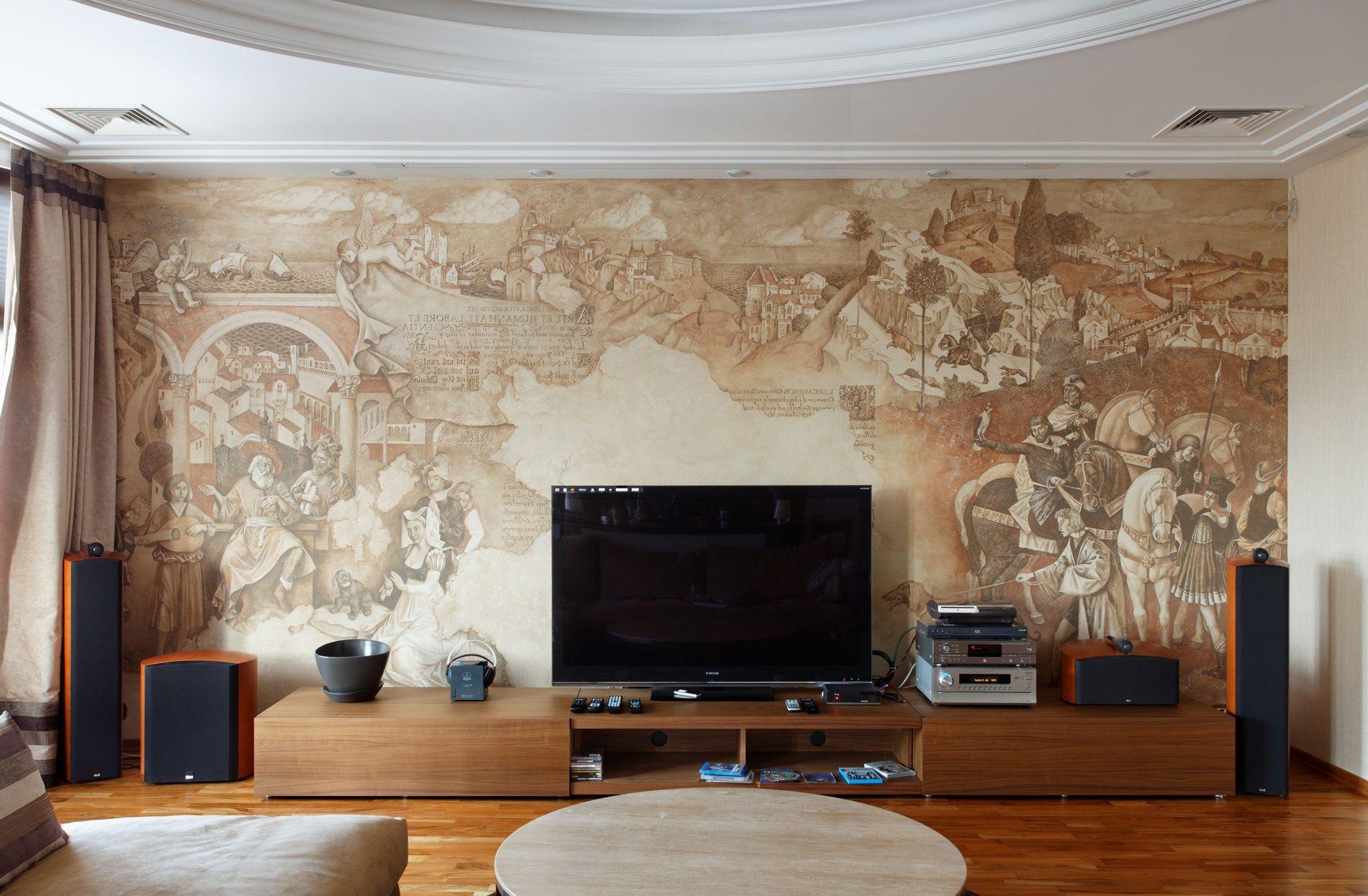 Роспись на стене - один из атрибутов неоклассического стиля