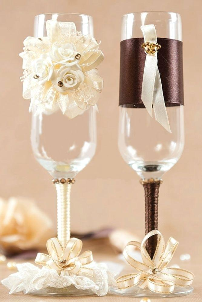 Бокалы на свадьбу 95 идей декора и лучшие мастер-классы