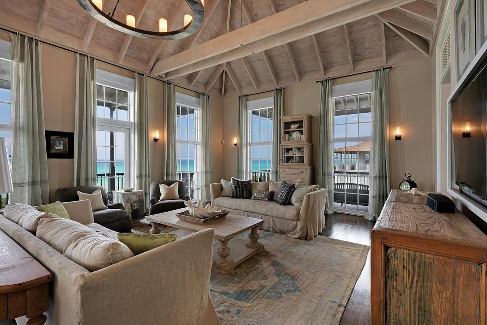 Чехлы для дивана из мешковины помогут подчеркнуть стиль кантри
