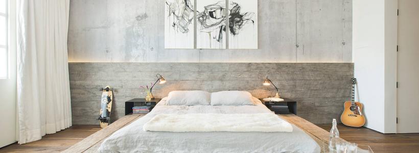 Обои под бетон (100 фото): очарование лофта в интерьере современной квартиры