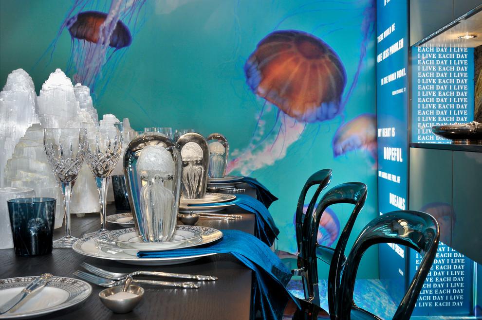 Сервировка стола с использованием элементов морского стиля
