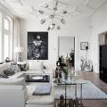Дизайн черно-белой гостиной: 65+ вдохновляющих идей элегантного монохрома фото