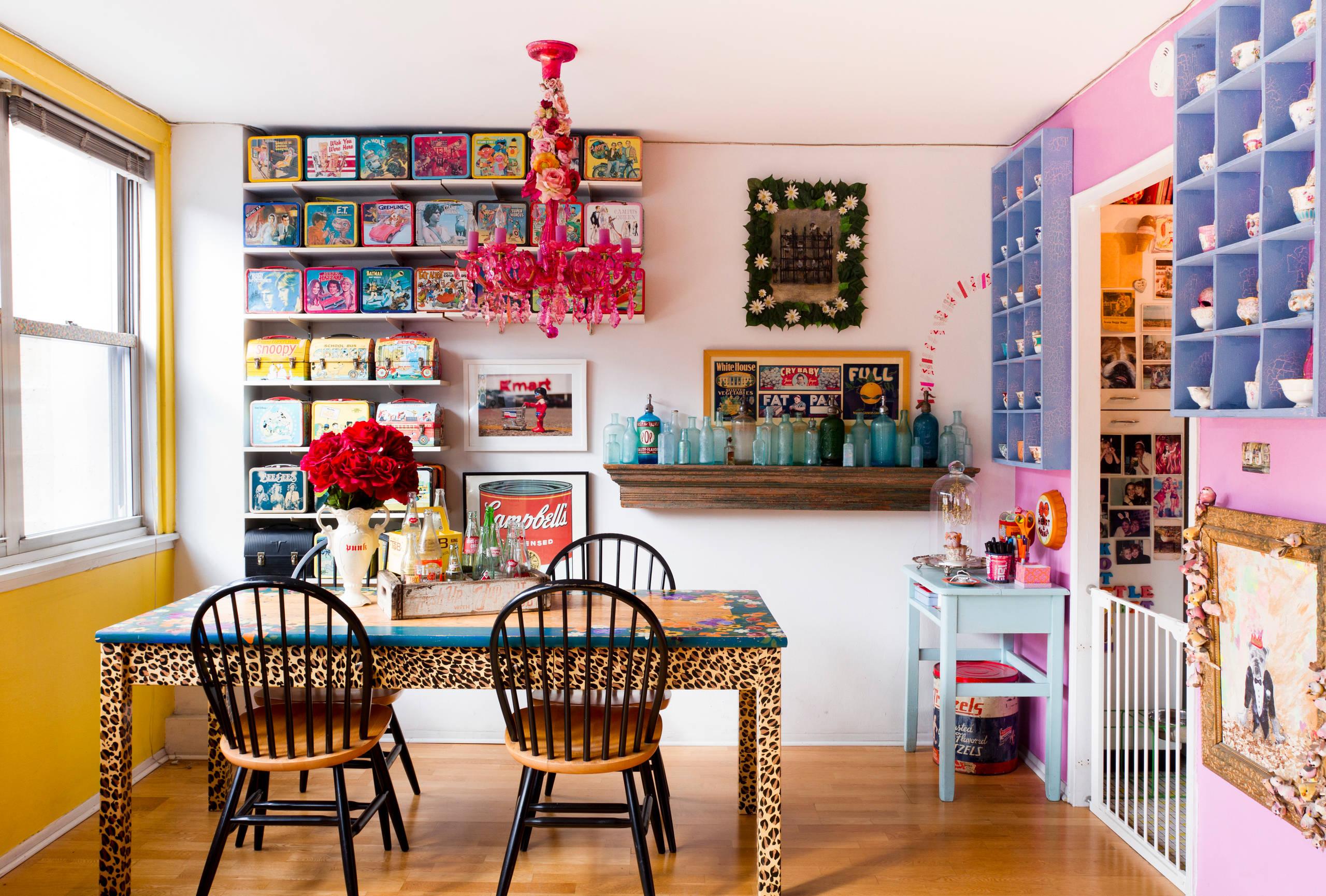 Яркий интерьер детской комнаты, оформленный в стиле ар-деко