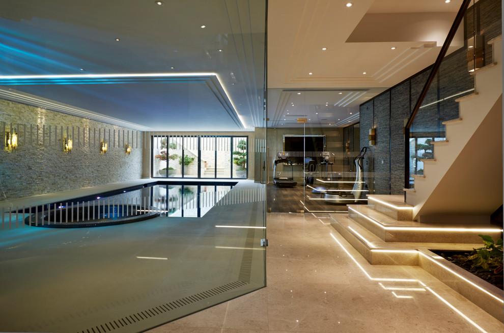 Супер-технологичный дизайн интерьера в стиле хай-тек