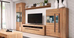 Стенки в гостиную: как подобрать подходящий вариант для своего дома? фото